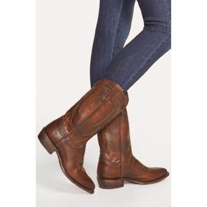 NWT Frye Billy Pull On Western Knee High Boots